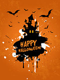 Grunge Halloween house background