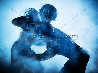 american football players silhouette