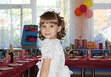 Adorable little girl in princess dress