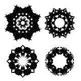Set of Black Ornaments