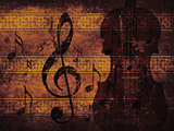 Vintage musical background with violin