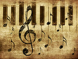 Vintage musical piano background