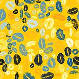 Lips Kiss Prints Seamless Pattern Background