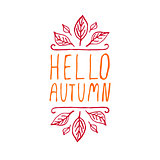 Hello Autumn - typographic element