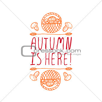 Autumn is here - typographic element