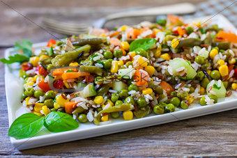 Rice italian salad