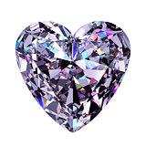 Diamond Heart. 3D Model.