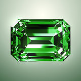 Emerald Over Green Background