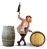 Funny drunk clown