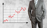 Businessman with graphs