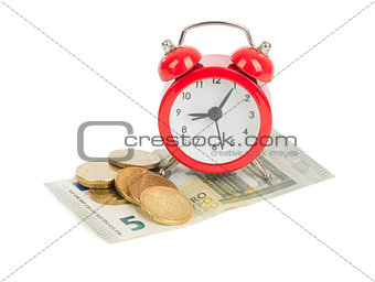 Alarm clock on money