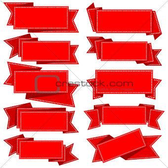 Ribbons. Vector Illustration