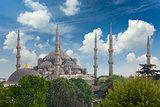 Sultanahmet Blue Mosque in Istanbul, Turkey,