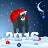 Gorilla Santa Claus 2016