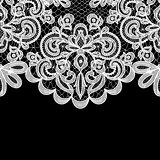 lace border on black background