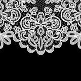 lace border on black background