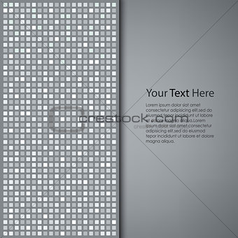 Abstract gray square background