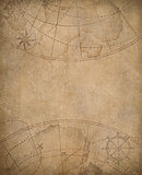 old map background with copyspace in center