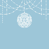 lace bauble decorations