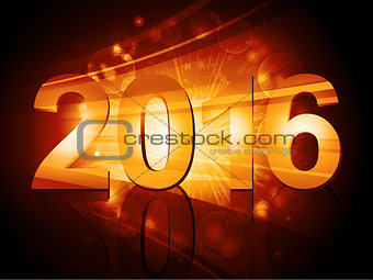 2016 New Year starburst
