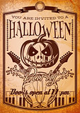 retro grunge poster for halloween party