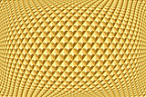 Geometric golden pattern. Textured background.