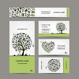 Fishing, business cards set for your design