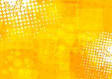 Bright orange grunge tech background