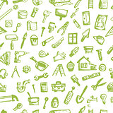 House repair, seamless pattern for your design