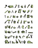 Repair home icons, sketch for your design