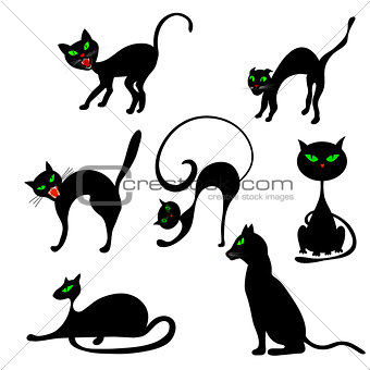 Cats in Different Poses Set
