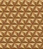 Tripartite pyramid brown seamless texture