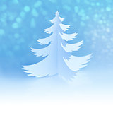 White Handmade Christmas Tree with magic snowflakes