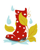 autumn wellie