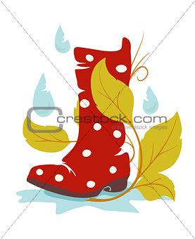 autumn wellie