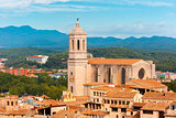 Saint Mary Cathedral in Girona, Catalonia, Spain