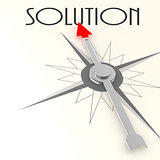 Compass with solution word
