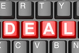 Deal button on modern computer keyboard