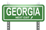 Georgia green sign board isolated