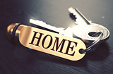 Home written on Golden Keyring.