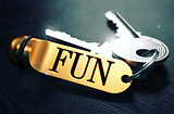 Fun written on Golden Keyring.
