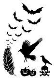 Halloween design elements, vector set