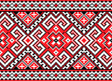 Seamless pattern in red
