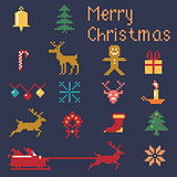 Christmas winter pixels
