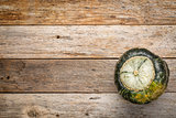 buttercup winter squash on wood