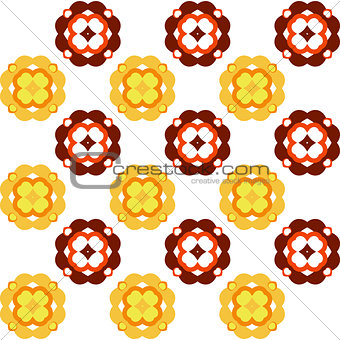 Autumn Flower Simple Seamless Pattern