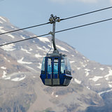Ski lift cable  car