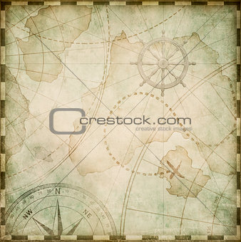 old abstract pirates map stylization