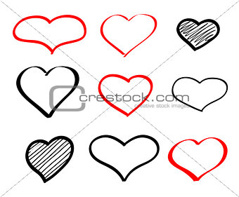 Abstract hand-drawn vector doodle heart