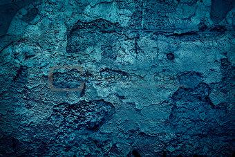 Grunge blue wall
